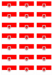 Vorarlberg Flag Stickers - 21 per sheet